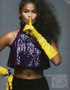 Gilles Bensimon for Elle magazine, November Fresh Prince, 80s And 90s Fashion, High Fashion, Naomi Campbell, Jennifer Aniston, Vogue Fashion, Fashion Models, Fashion Images, African American Models