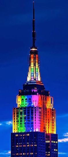 Empire State Building during NYC Gay Pride