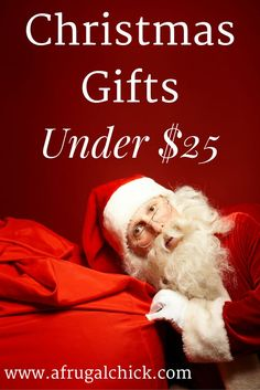 Christmas Gifts Under 25- Shopping on a budget this year? Aren't we all? Brighten up under your tree with these great Christmas gifts under $25!