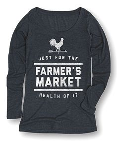 Loving this Heather Blue 'For the Health of It' Tee on #zulily! #zulilyfinds