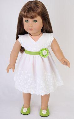 American Girl Doll Dress AG Doll Dress 18 inch by ModernDollWorld