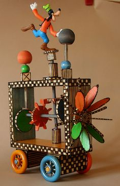 Kinetic Wooden Art Sculpture ©2012 Private Collection: Toronto, Canada