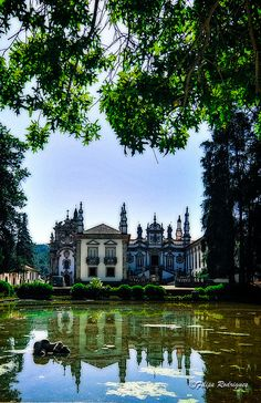 Solar de Mateus. Portugal - The Mateus Palace (Portuguese: Palácio de Mateus, Solar de Mateus or Casa de Mateus) is a palace located in the civil parish of Mateus, municipality of Vila Real, Portugal. Architect Nicolau Nasoni was involved in the project for the construction of the palace, which took place in the 18th century.