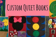 Customized Toddler Quiet Book Hard Cover Binder Childrens