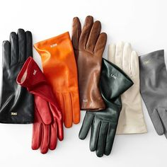 Women's Classic Leather Gloves - Women's Classic Leather Gloves, Bright-Toned Classic Leather, Italian Leather, Bright Summer Acrylic Nails, Floppy Straw Hat, Gloves Fashion, Fashion Shoes, Alana Blanchard, Mark And Graham, Burton Snowboards