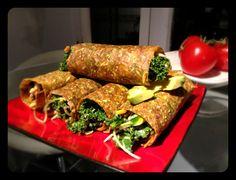 Mushroom Miso Rolls - raw vegan recipe by Tonya Kay