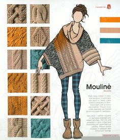 ideas knitting illustration crochet stitches Record of Knitting Wool rotati. Knitting Stitches, Knitting Patterns Free, Knit Patterns, Knitting Wool, Knitwear Fashion, Knit Fashion, Fashion Design Template, Fashion Sketches, Refashion