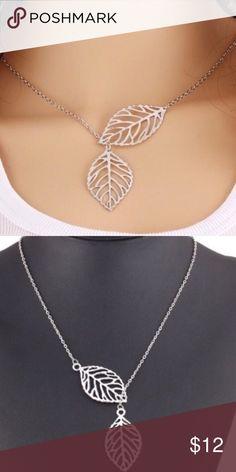 LEAF NECKLACE BOHO SILVER LEAF NECKLACE BOHO SILVER Jewelry Necklaces