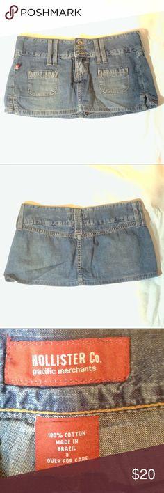 💙NWOT HOLLISTER DENIM SKIRT IN SIZE 3💙 💙NWOT HOLLISTER DENIM SKIRT IN SIZE 3💙 Hollister Skirts Mini