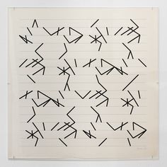 Manfred Mohr, (plotter drawing on paper), 1978 [Bitforms Gallery, New York, NY] Computer Art, Generative Art, Art History, Geometry, Pattern Design, Organization, Abstract, Drawings, Paper