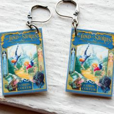 The Land of Stories Earrings by BeanDoll on Etsy,