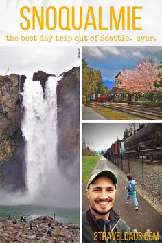 An easy day trip from Seattle, Snoqualmie Falls and the nearby town are a great getaway with kids. All great choices! Day Trips From Seattle, Seattle Vacation, Seattle Travel, Seattle Area, Vacation Spots, Visiting Seattle, Seattle Hiking, Seattle Weekend, Cruise Vacation