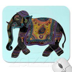 Indian Elephant Art Mousepad from Zazzle.com