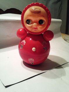 Vintage Soviet Nevalyashka Tilting Doll RARE Folk Collectible Cult Toy Large | eBay