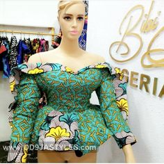 ankara tops - - Ankara Tops for ladies: The Ultimate Must-Have 2019 Collection - photo Source by kou African Blouses, African Tops, African Lace Dresses, African Fashion Ankara, Latest African Fashion Dresses, African Print Fashion, Ankara Peplum Tops, Ankara Dress Styles, Ankara Tops Blouses