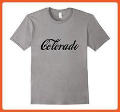 Mens Colorado CO State Home Retro T-shirt Large Slate - Retro shirts (*Partner-Link)