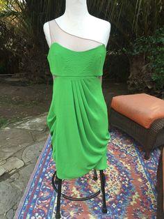 BCBG Max Azria Runway Green Cocktail Dress 10 #BCBGMAXAZRIA #Cocktail #Cocktail