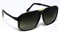 Retro Celebrity Style Flat Top Key Hole Aviator Sunglasses Black