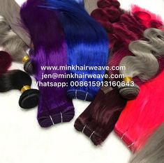 New Year Colorful Party Hair! Mink Brazilian Hair, Brazilian Hair Bundles, Brazilian Hair Weave, Party Hairstyles, Weave Hairstyles, Grey Hair, Blue Hair, Malaysian Hair, Colorful Party