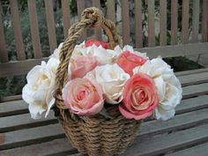 Basket flowers rose