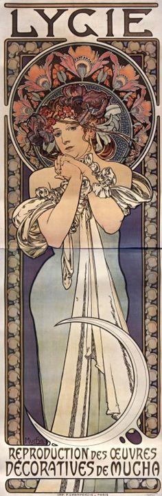 Poster design 'Lygie' by Alphonse Mucha, ca. 1901.