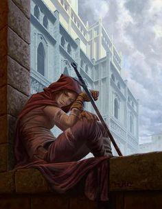 f Rogue Thief Leather Armor Cloak Sword Urban City Last Breath by metalratrox Anime Art Fantasy, Fantasy Rpg, Fantasy Artwork, Fantasy Story, High Fantasy, Fantasy Women, Character Concept, Character Art, Concept Art