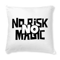 Housse de Coussin Bio No Risk No Magic