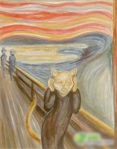 Scream - Munch - Cat