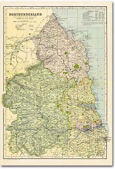 Cassini Maps - Northumberland (1900)