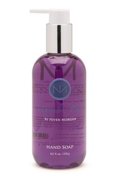Niven Morgan Lavender Mint Hand Soap - We blend our sophisticated scents into soothing, moisturizing aloe vera, the purest glycerin and invigorating white tea, then fortify with vitamins A, C and E to create a fragrant, lusciously foaming, non-drying hand soap. Pair with Niven Morgan Hand Lotion and Hand Cream. Find Niven Morgan bath and body products at sunscreendeals.com!