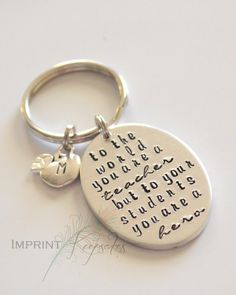 END OF YEAR GIFT IDEA   Teacher gift  Preschool to the world you are a teacher but to your by ImprintKeepsakes