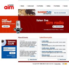 Radio Website Website Template #15238