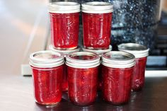 Pioneer Woman Strawberry Jam- It is sooo good. Replace a little sugar with honey, and add vanilla. Yummy!