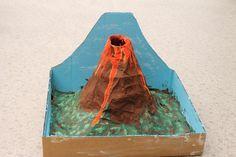 Montessori Beginnings: Baking Soda Volcanoes Diy Volcano Projects, Volcano Science Fair Project, Science Fair Projects, School Projects, Projects For Kids, Crafts For Kids, Science Experiments, Science Crafts, Science For Kids