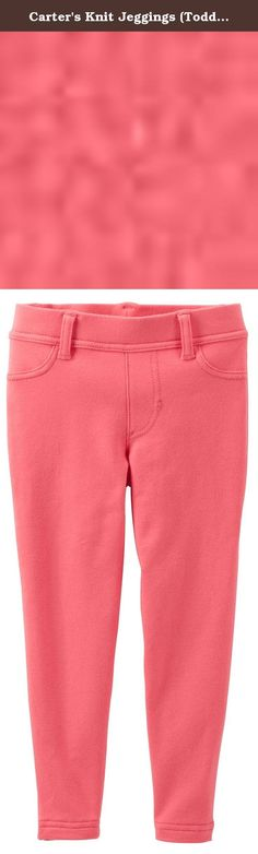 Carter's Knit Jeggings (Toddler/Kid) - Coral-6. Carter's Knit Jeggings (Toddler/Kid) - Coral Carter's is the leading brand of children's clothing, gifts and accessories in America, selling more than 10 products for every child born in the U.S. Their designs are based on a heritage of quality and innovation that has earned them the trust of generations of families.
