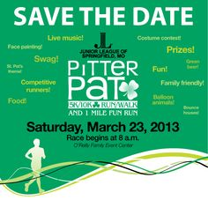 Pitter Pat 5k and 10k. Junior League of Springfield MO