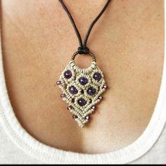 $16.99 plus shipping Www.etsy.com/shop/evergreenbohemian #bohemian #macrame #macramenecklace #amethyst #photooftheday #instagood #purple #necklace #jewelry #etsy #etsyfind