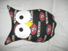 Hooters Stuffed Owl Pillow 49er featuring NFL San by sweetpitas, $15.00