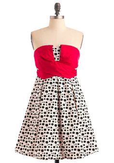 """""""On The Spot Dress"""" $87.99 --so retro cute! With red shoes! LOVE ♥"""