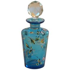 Signed MOSER Enameled Art Glass Perfume Bottle, c. 1885 : Moore Unique Accents | Ruby Lane