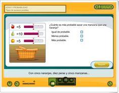 """Azar y probabilidad: """"Tipos de sucesos posibles"""" (Aplicación interactiva de Matemáticas de Primaria) Maths Area, Teaching Resources"""