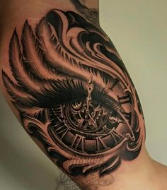 50 Ideas For Tattoo Compass Realistic Clock Hand Tattoos, New Tattoos, Body Art Tattoos, Tribal Tattoos, Tattoos For Guys, Tattoos For Women, Cool Tattoos, Bicep Tattoo, Forearm Tattoos