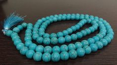 Rare Turquoise Beads Necklace 8MM 108 Turquoise by beadsincredible, $19.99