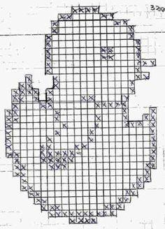 Heute habe ich für euch eine Osterfilethäkelei...wie ich j Crochet Patterns Filet, Crochet Symbols, Vintage Crochet Patterns, Doily Patterns, Filet Crochet, Crochet Motif, Crochet Doilies, Cross Stitch Patterns, Crochet Frog
