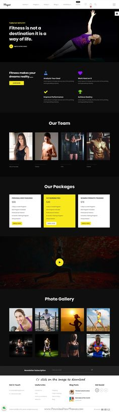 Magazi is clean and modern design responsive multipurpose #Joomla template for #gym #fitness centers and eCommerce website with 25+ niche homepage layouts to download click on image.+