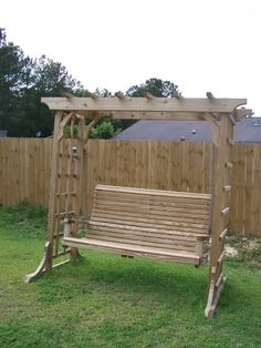 pergola swing with lattice