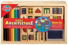 Architecture Stamps -- Mix and match the stamps to make your own city on paper!