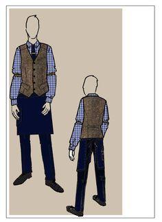 The 02 American Express VIP Lounge bartender uniform design sketch