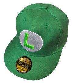 Amazon.com   Underground Kulture Green Luigi Super Mario Snapback Baseball  Cap   Sports Fan c4fda5d3ace8