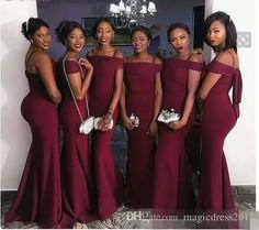 Custom Sheath Black Girl Stretch Satin Cheap 2017 Bridesmaid Dresses Sexy  Long Sleeve Cheap Evening Dresses b0b0a30921d5